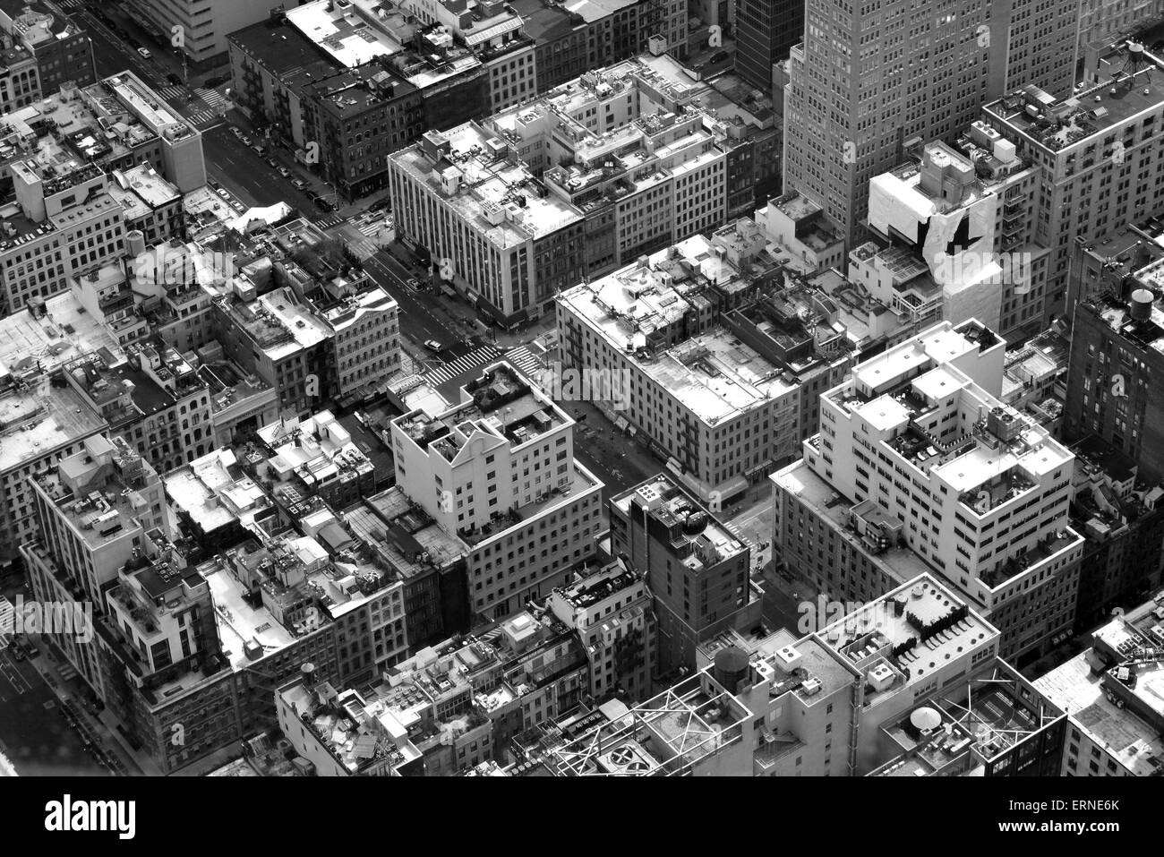 Blickte auf Tribeca in Lower Manhattan. Stockbild