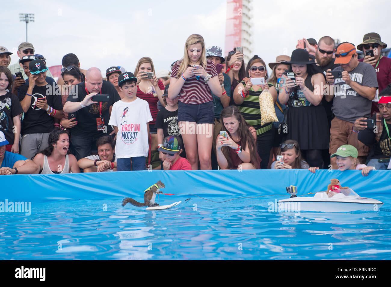 Austin, Texas, USA. 5. Juni 2015. TWIGGY das Wasserski ...