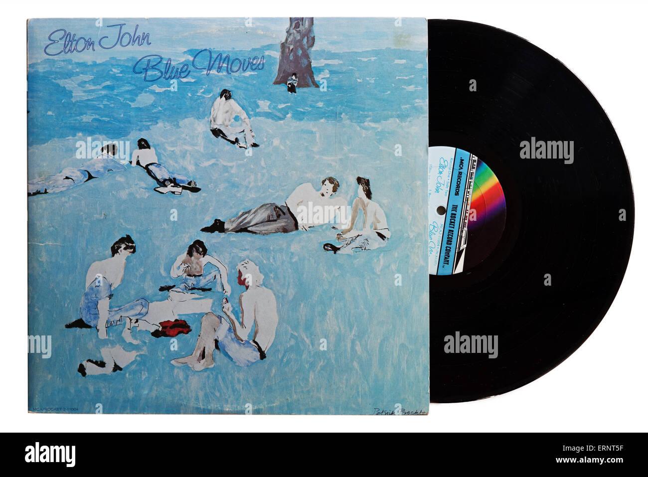 Elton John-Album Blue bewegt Stockfoto