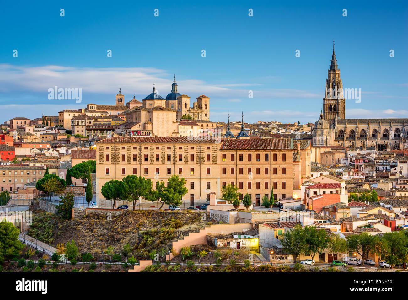 Toledo, Spanien Stadt Stadtansicht am Dom. Stockbild