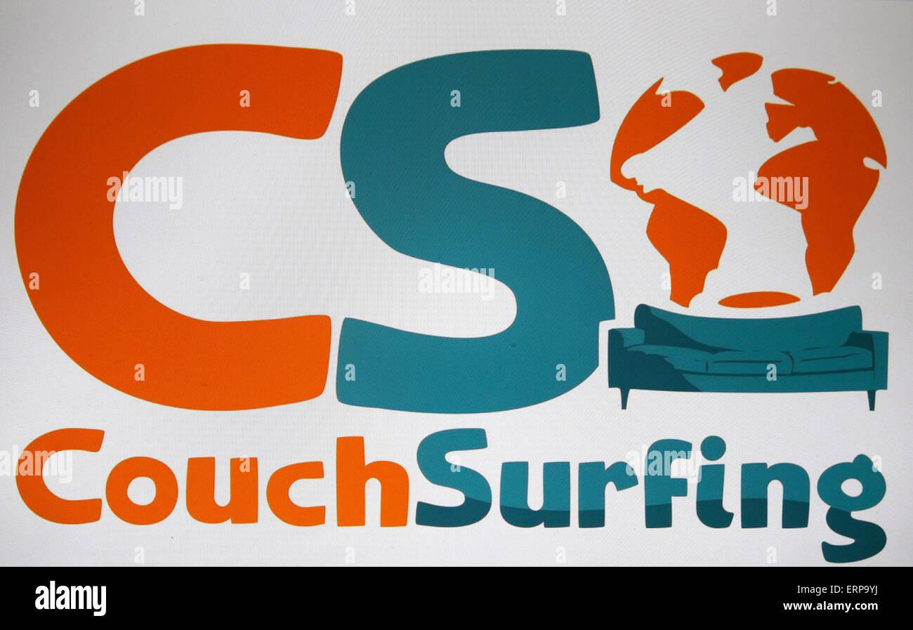 """Markennamen: """"Couch Surfing"""", Berlin. Stockbild"""