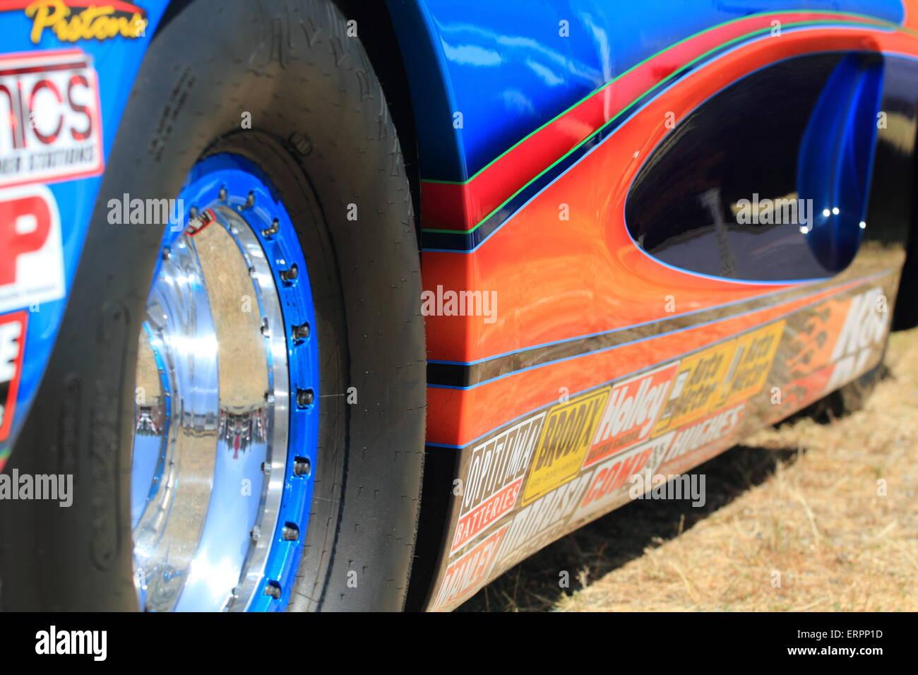 Amerikanischen Rennwagen Stockbild