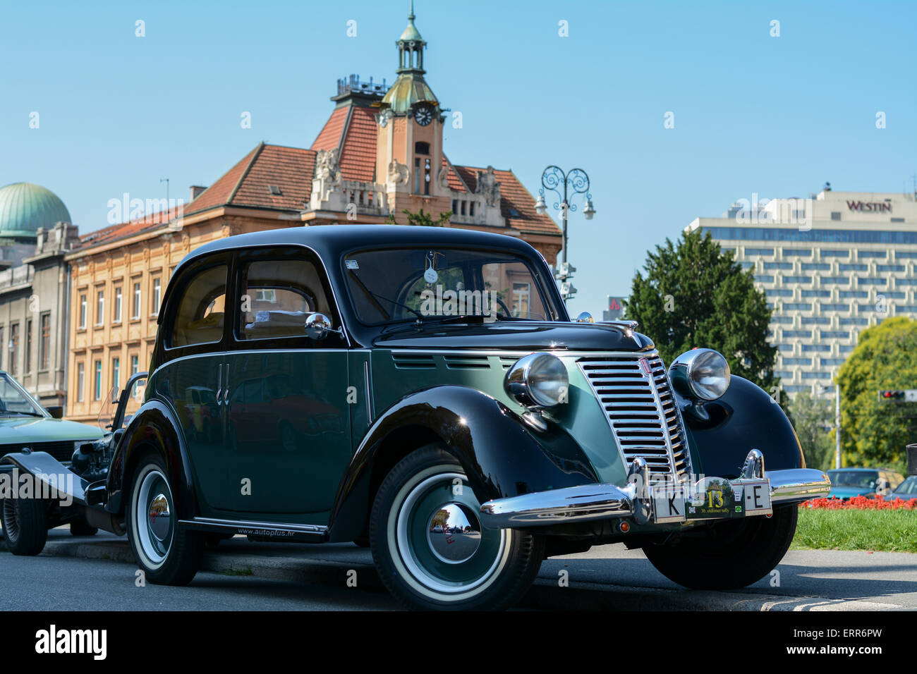Oldtimer-Rallye der 30. Zagreb in Zagreb, Kroatien Stockbild
