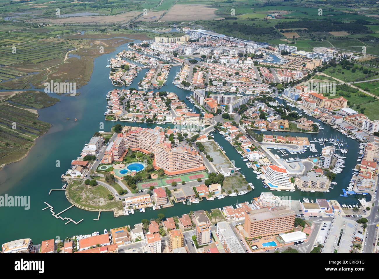 Marina luftbild roses costa brava katalonien spanien - Office de tourisme rosas costa brava ...