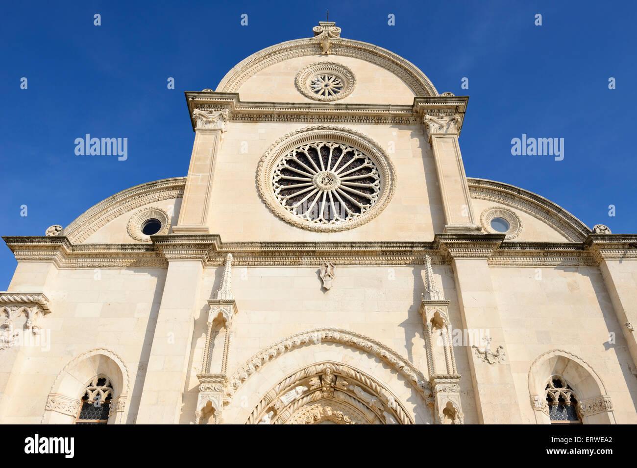 Kathedrale St. Jakobus in Sibenik an der dalmatinischen Küste von Kroatien Stockbild