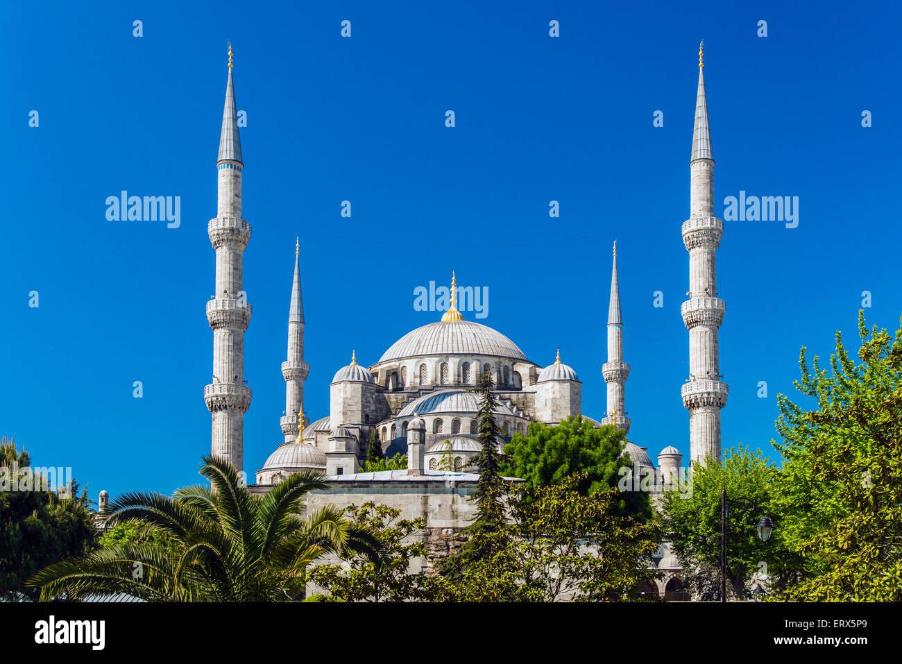 Sultan-Ahmed-Moschee oder blaue Moschee, Sultanahmet, Istanbul, Türkei Stockbild