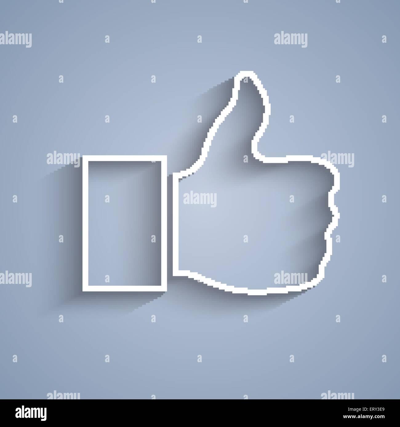 Papier wie Symbol auf grauem Hintergrund. 10 RGB EPS-Vektor-illustration Stockbild