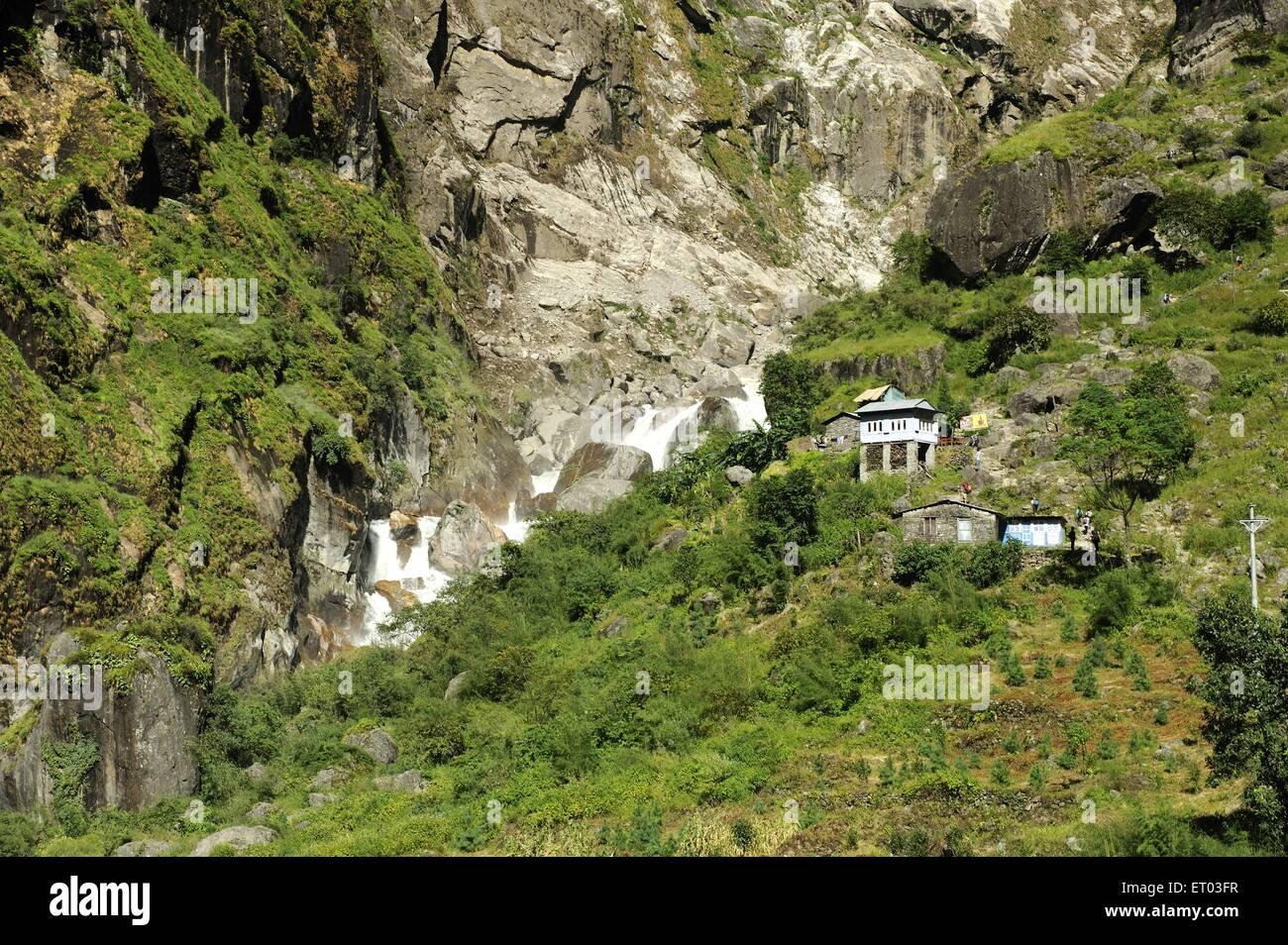 Dorf-Tal; Nepal Stockbild