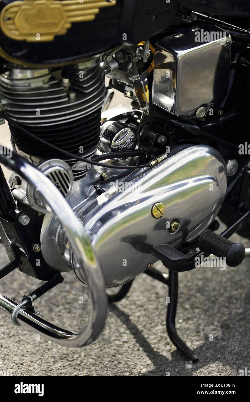 Royal Enfield Bullet G2 350 cc 1960 Oldtimer Motorrad Stockfoto