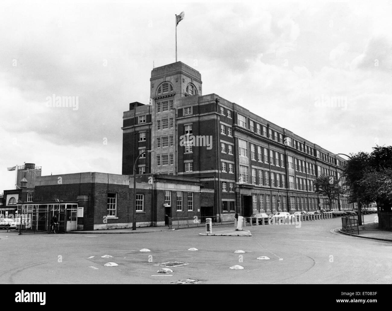 Fort Dunlop in Birmingham.  13. Mai 1983. Stockbild