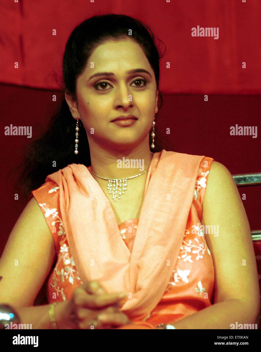 Marathi Film Persönlichkeit Mrunal Kulkarni während der Veranstaltung in Bombay Mumbai; Maharashtra; Indien Stockbild
