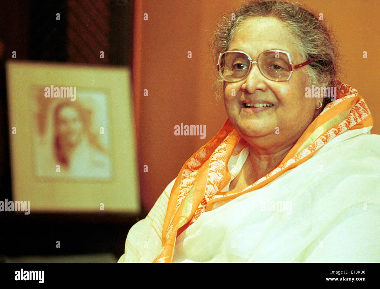 Senior-Marathi Film Persönlichkeit Sulochana während Veranstaltung Bombay Mumbai; Maharashtra; Indien Stockbild
