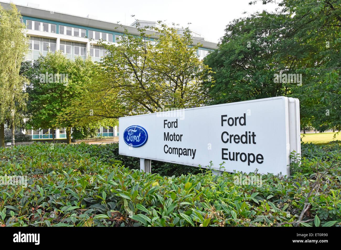 Bürogebäude der Ford Motor Company und Ford Credit Europe an Warley Brentwood Essex England Großbritannien Stockbild