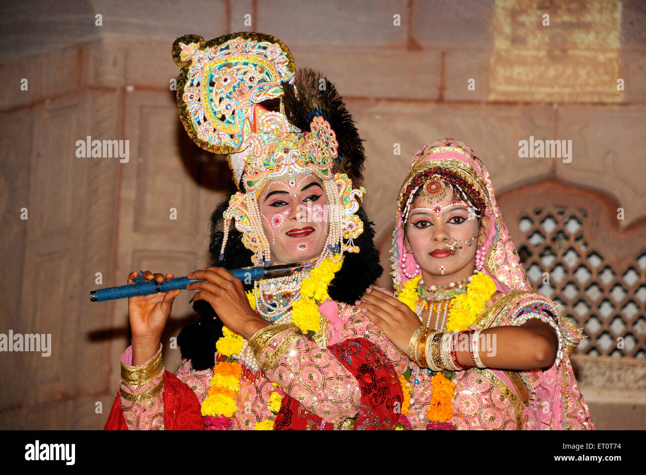 Künstler wie lord Krishna und Radha NOMR Stockbild