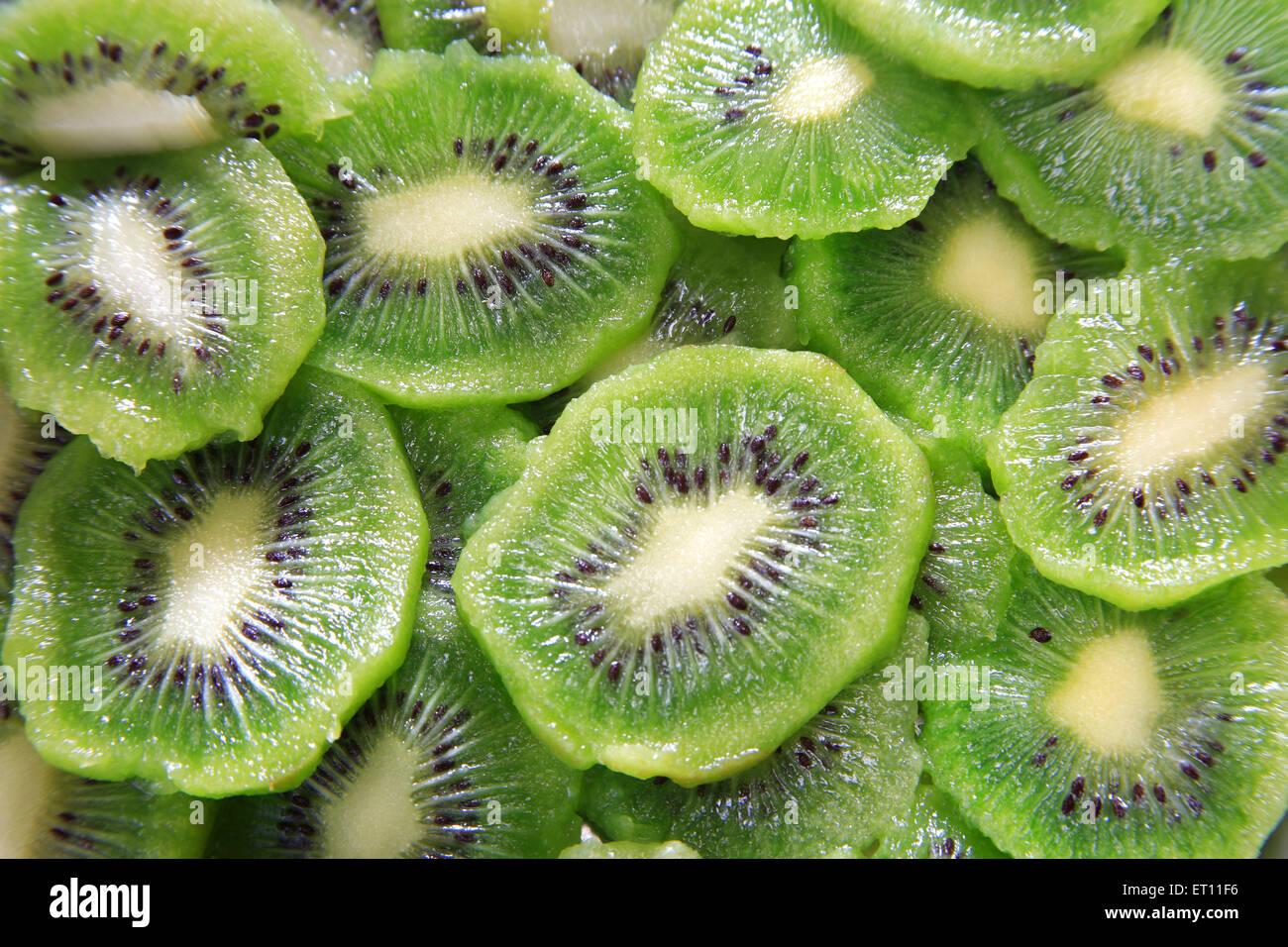 Frucht; Scheiben von kiwi Stockbild