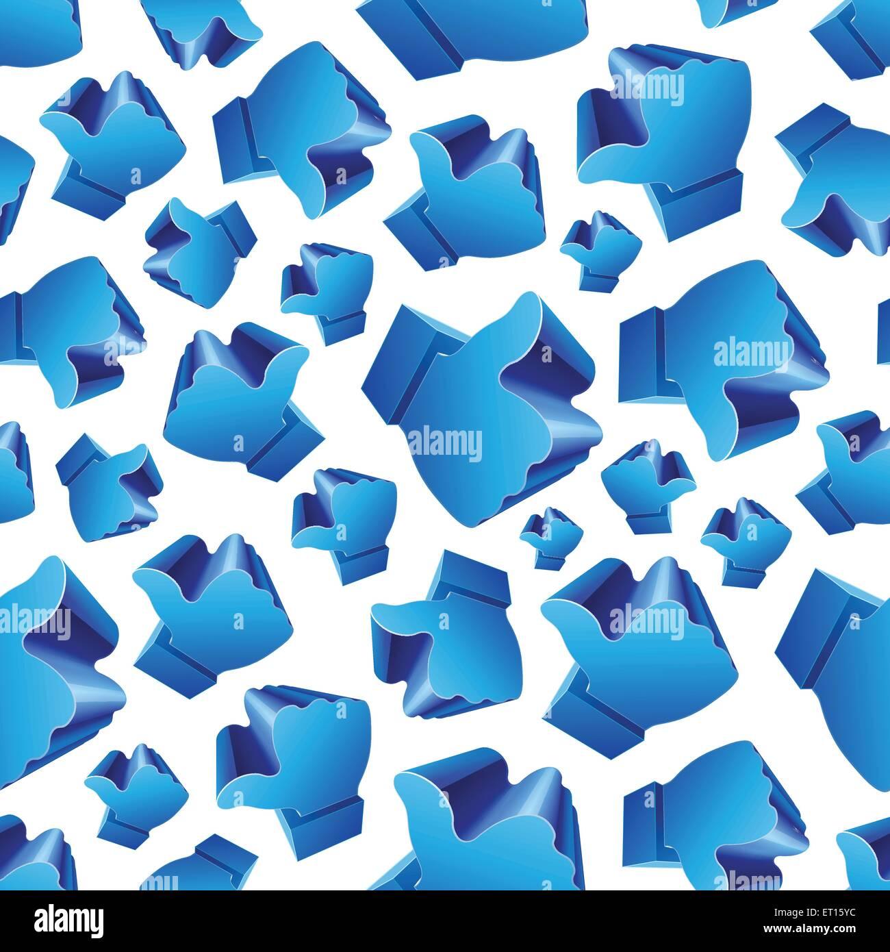 3D wie Symbol auf weißem Hintergrund Musterdesign. 10 RGB EPS-Vektor-illustration Stockbild