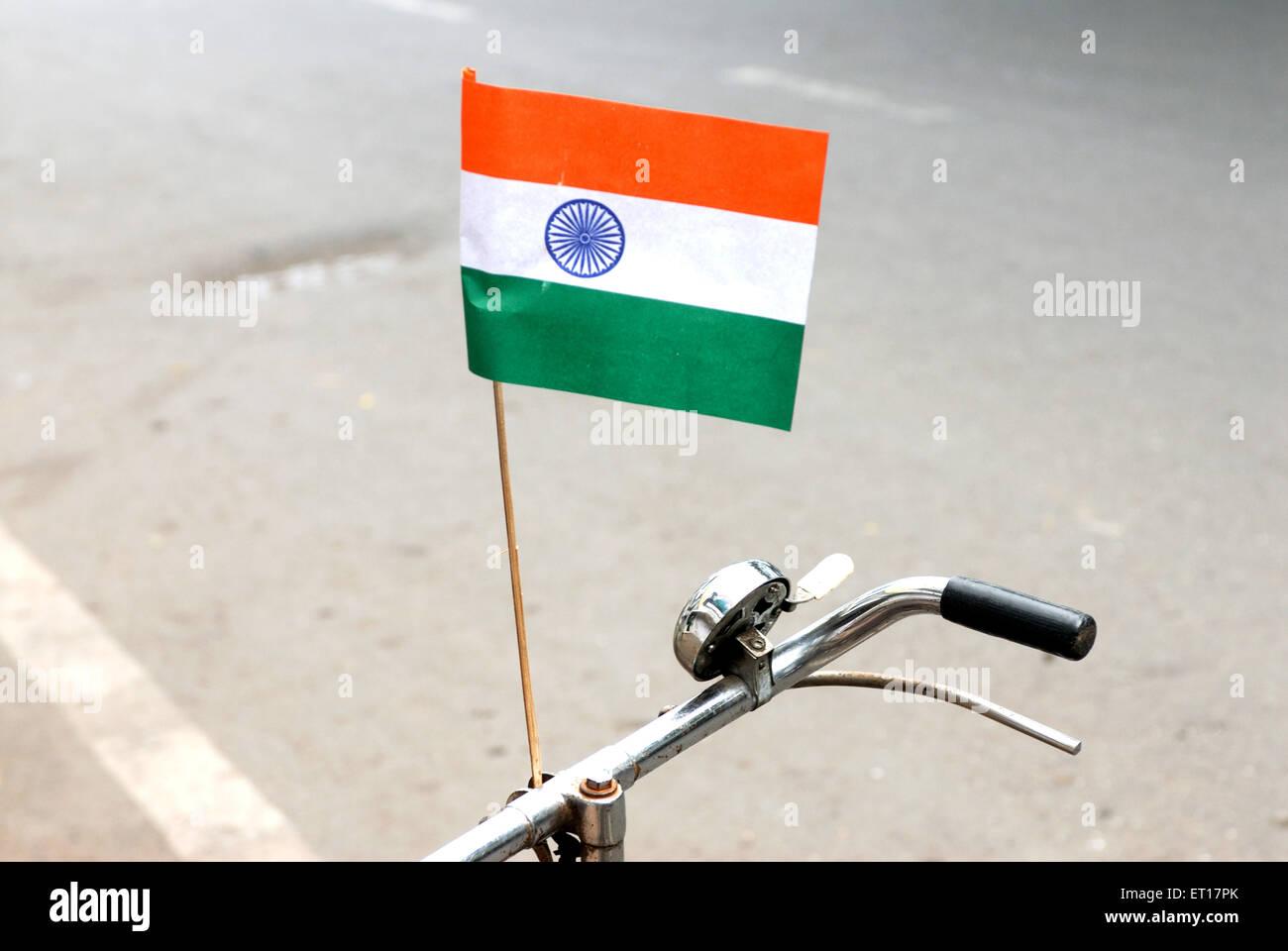 Indische Flagge am Unabhängigkeitstag Stockbild