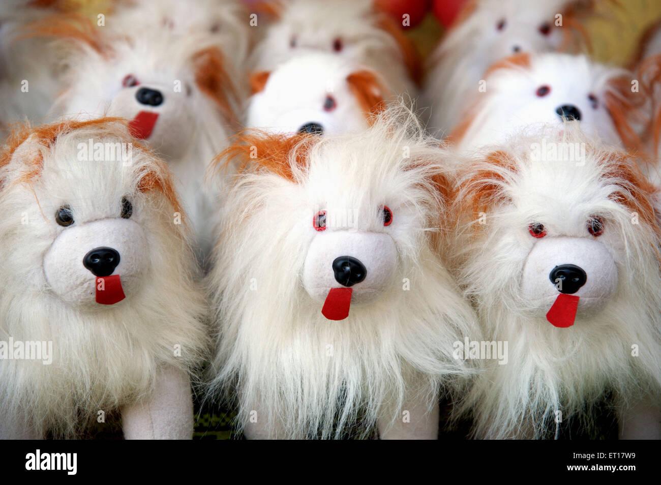 Spielzeug Hund gemacht von Kunsthaar Stockfoto