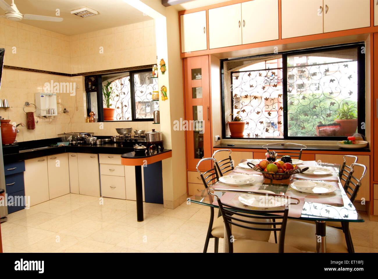 Innenraum der indischen Küche Herr #364 Stockbild