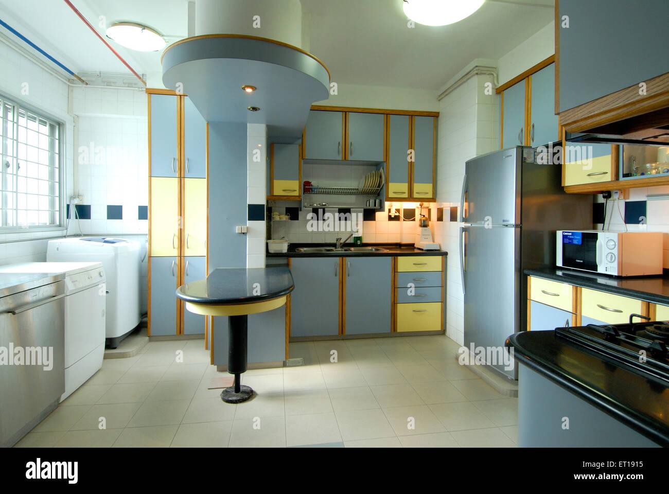 Küche Innenraum neue Möbel Schränke Schränke Backofen Tabelle-pr Nr ...
