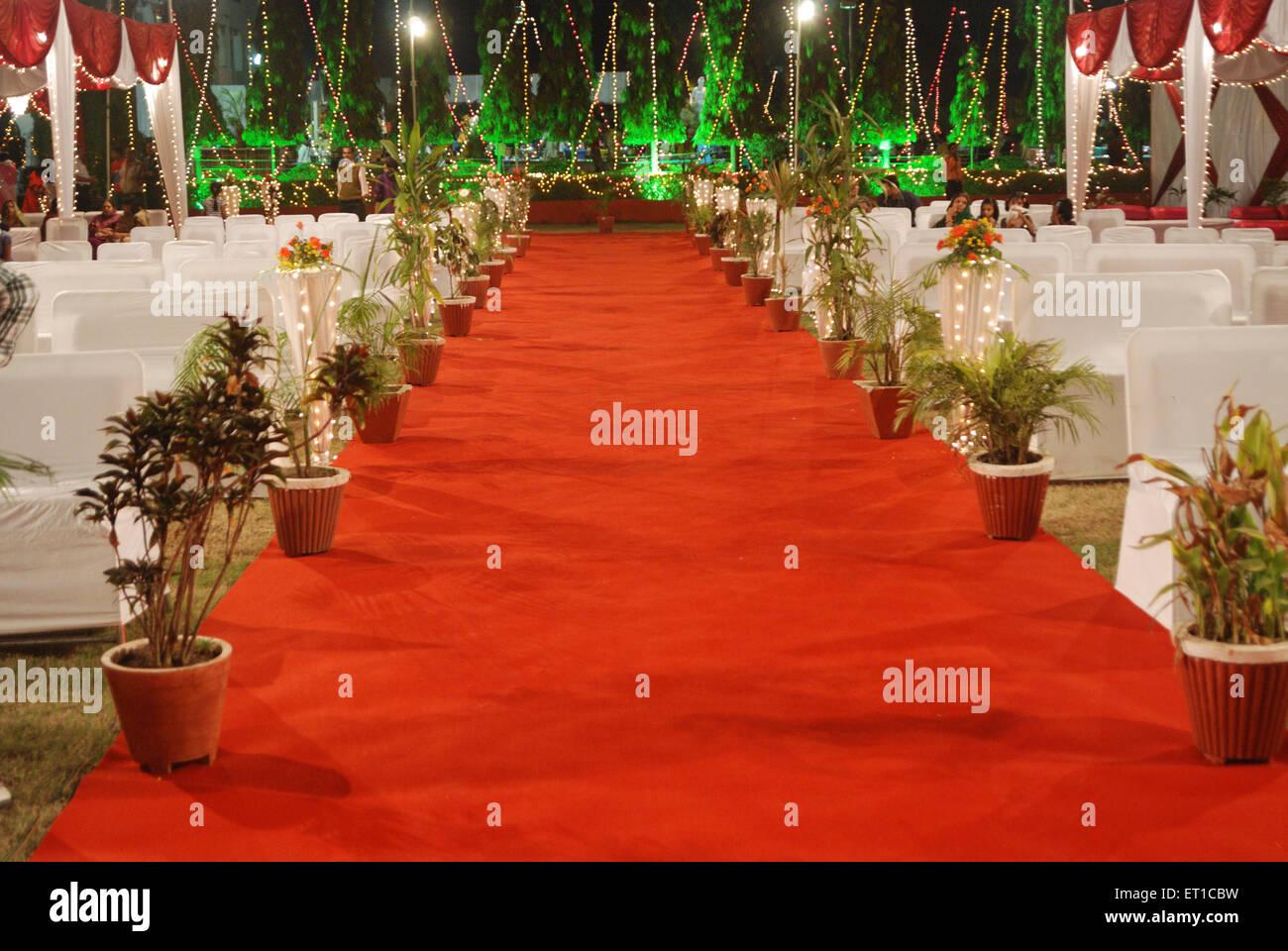Roten Teppich Guna Madhya Pradesh Indien Asien Stockbild