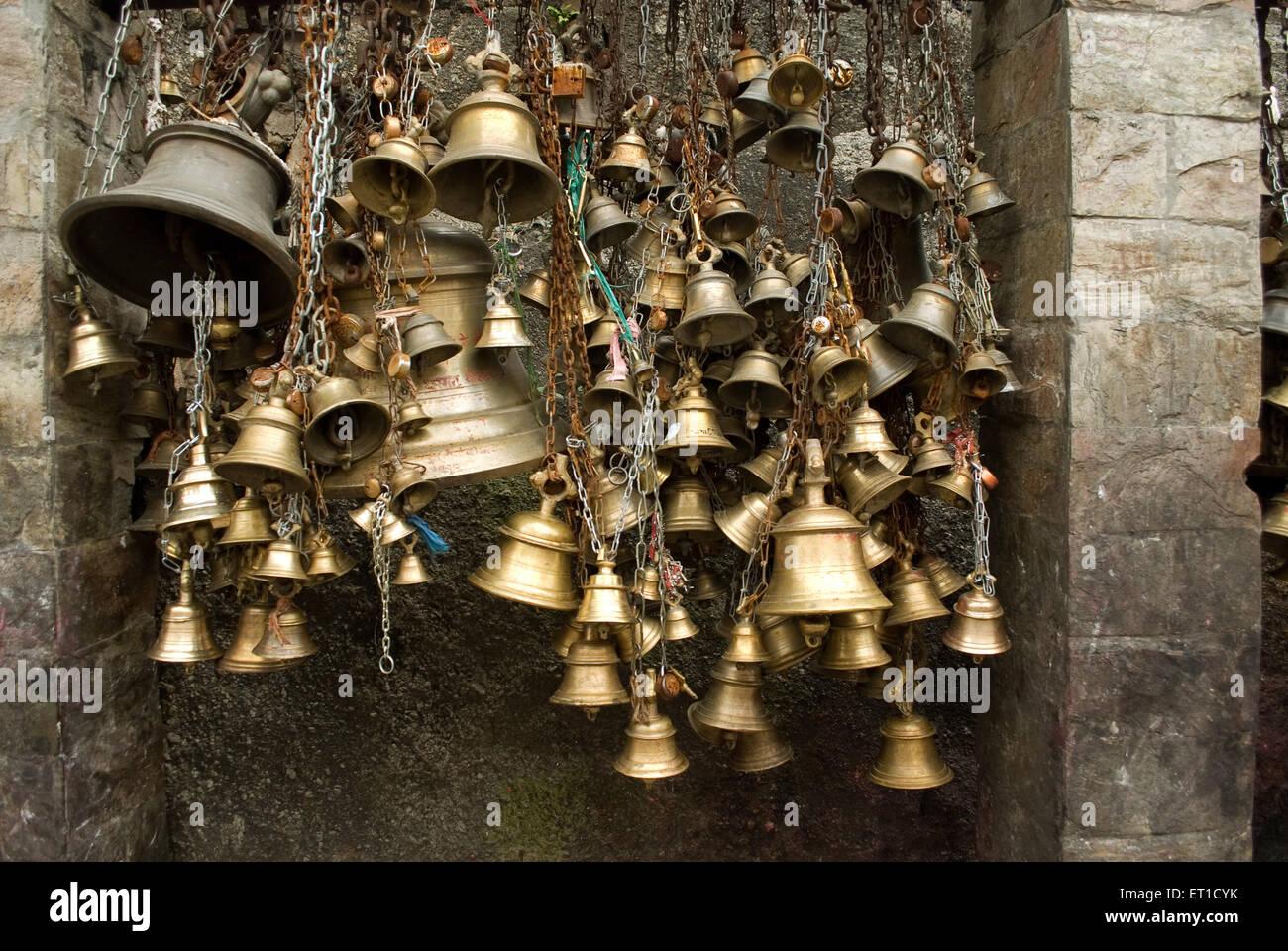 Glocken des Glaubens in shaktipeeth kamakhya Tempels Guwahati Assam Indien Stockbild
