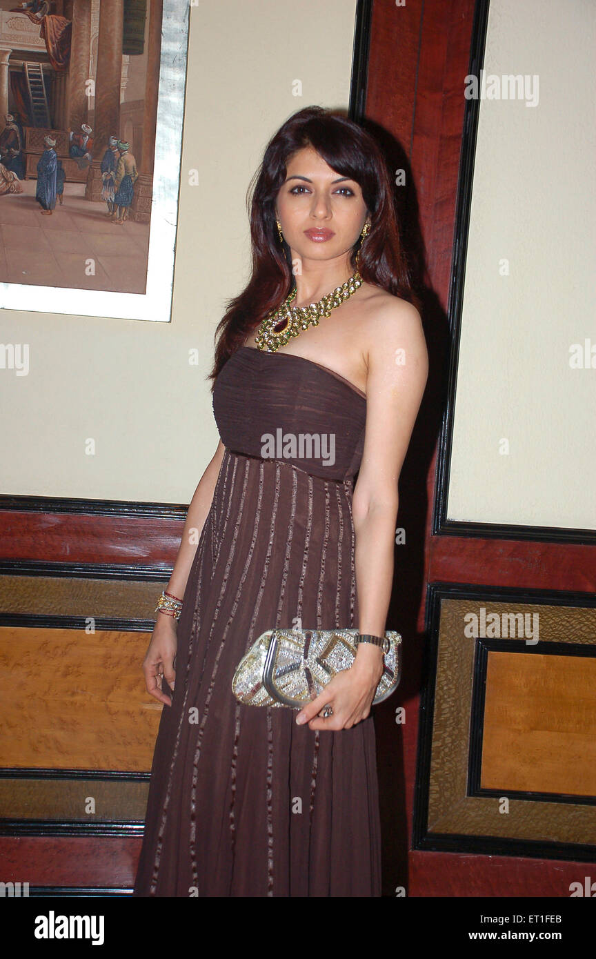 Schauspielerin Bhagyashree; Indien nicht Herr Stockbild