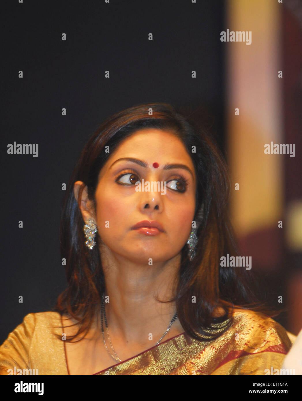 Schauspielerin Sridevi; Indien nicht Herr Stockbild
