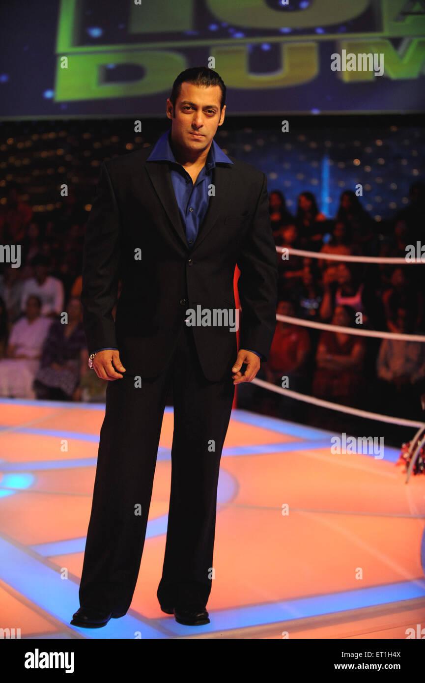 Bollywood Schauspieler Salman Khan an dus-ka Dum zeigen - kein Modell Release - Nur für editorail verwenden Stockbild