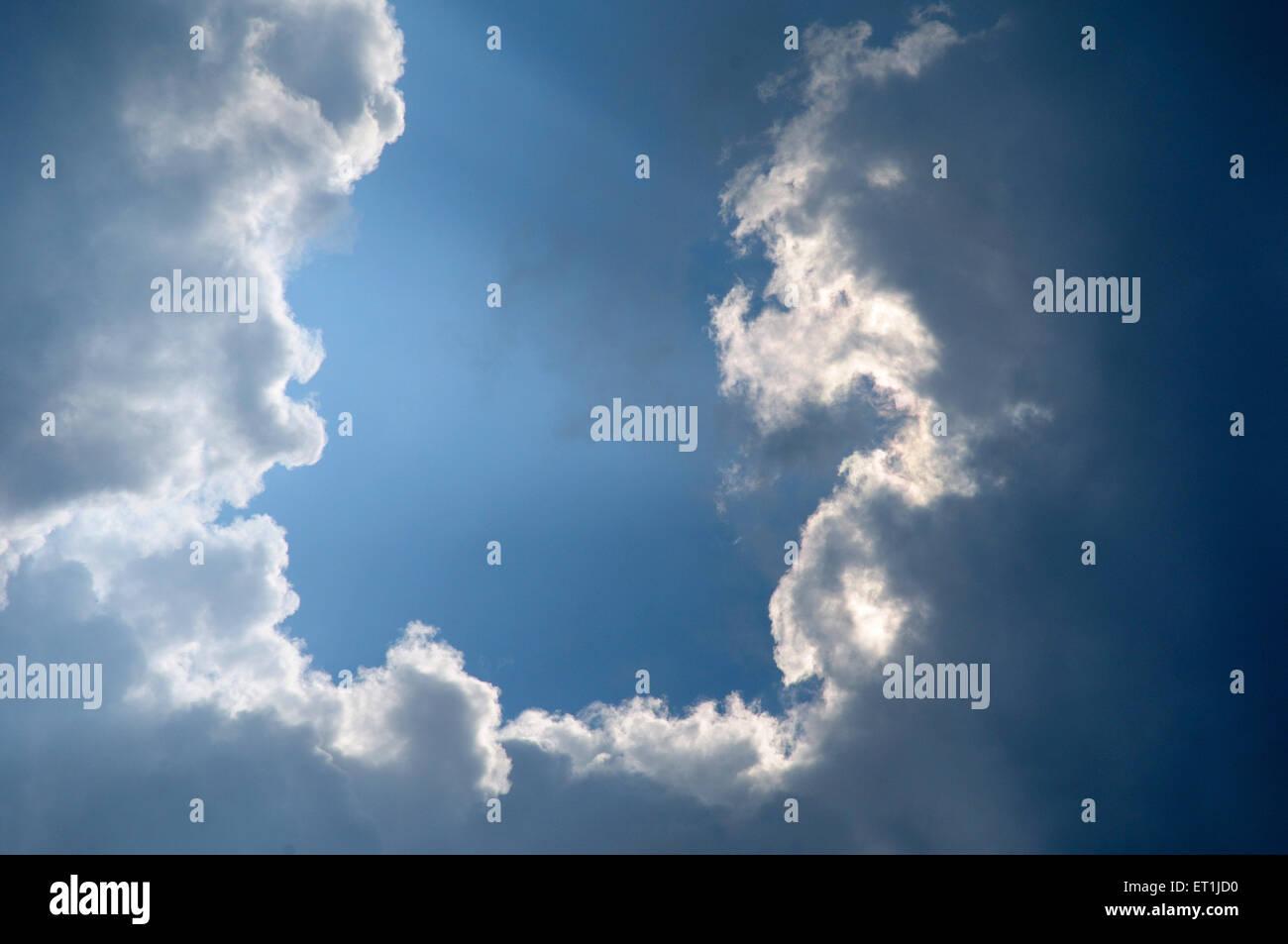 Phänomen der Wolkenbildung; Pachmarhi; Madhya Pradesh; Indien 3. Oktober 2008 Stockbild