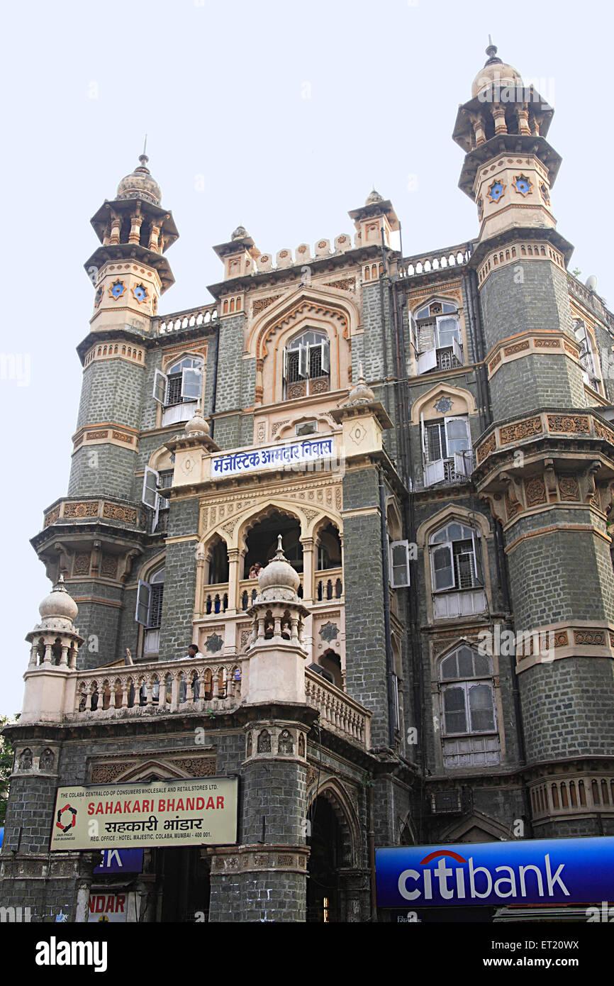 Majestätische Guesthouse; Bombay Mumbai; Maharashtra; Indien Stockbild