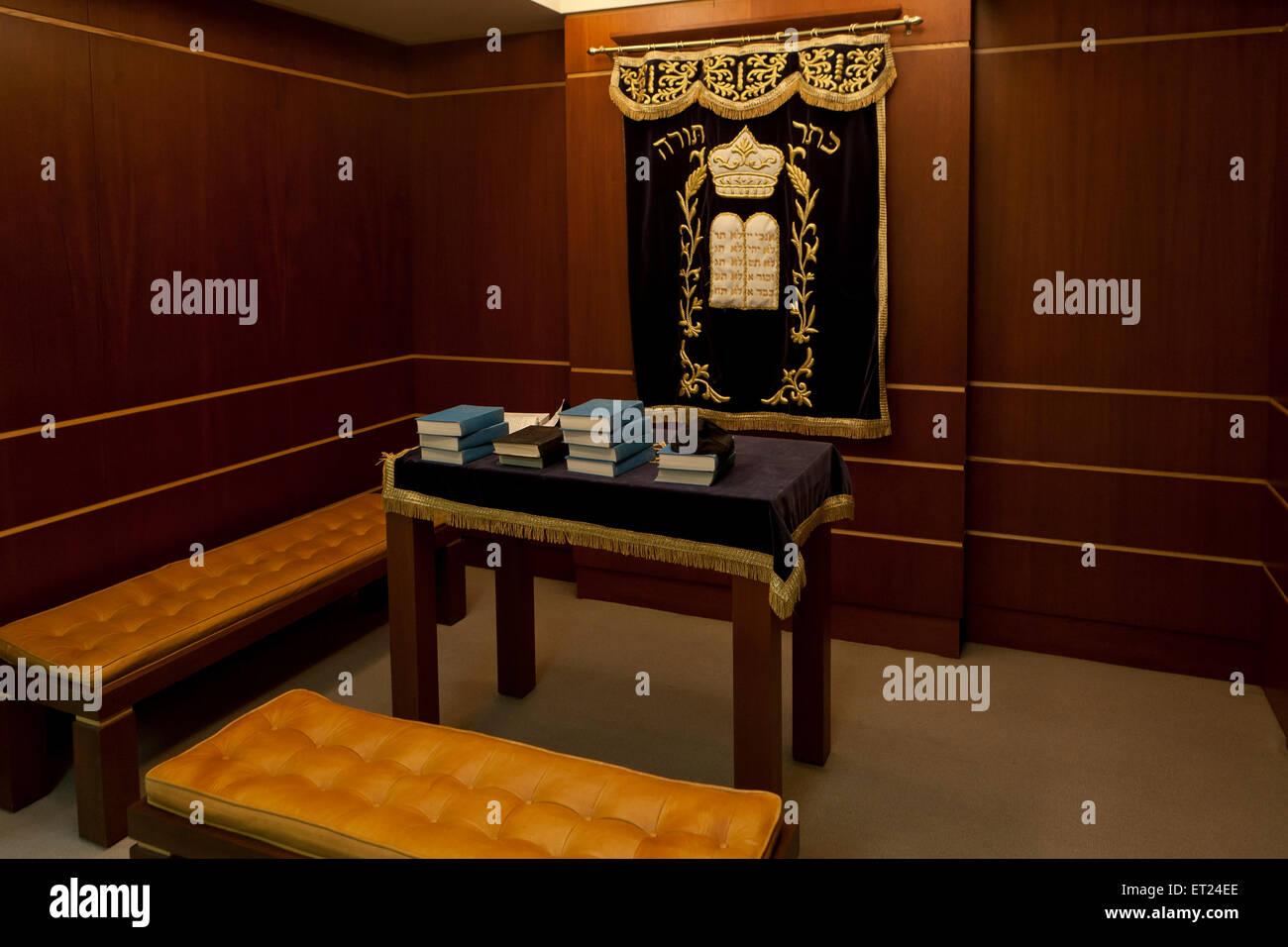 Jüdische Gebet und Thora Arbeitszimmer (Beth Midrash) Stockbild