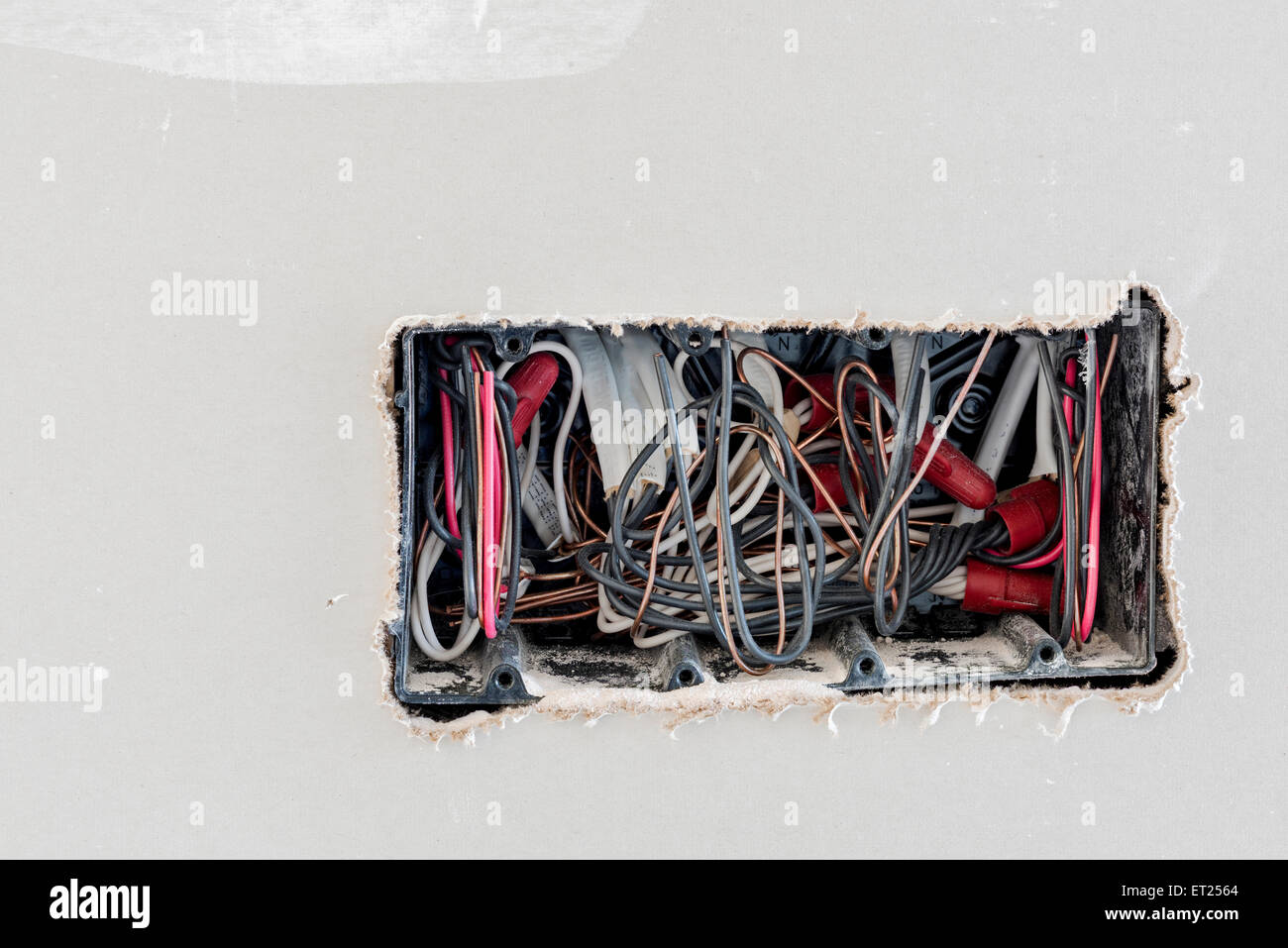Wires Wiring Electrical Construction Stockfotos & Wires Wiring ...