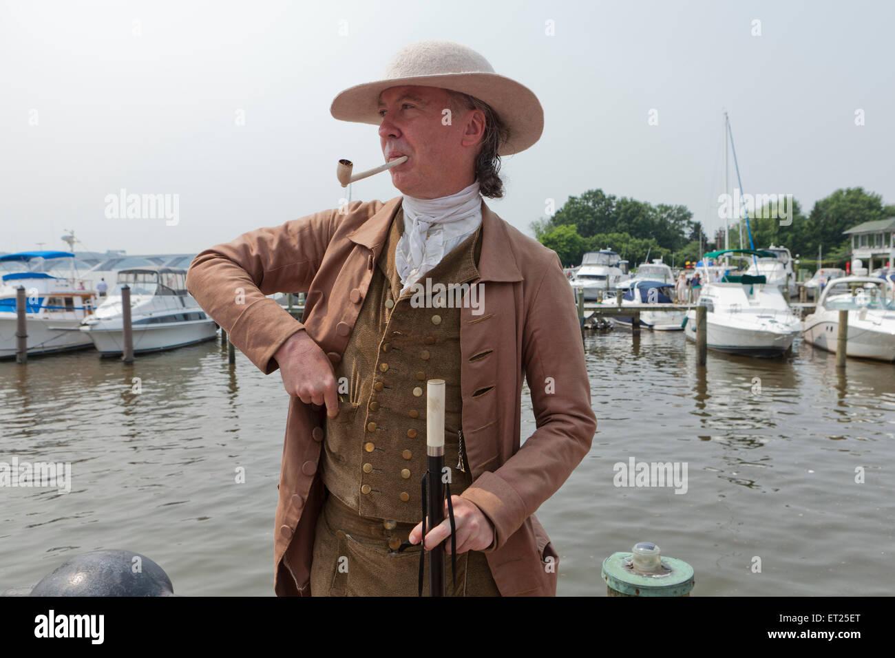 Herren tragen traditionelle Kleidung aus dem 17 ...