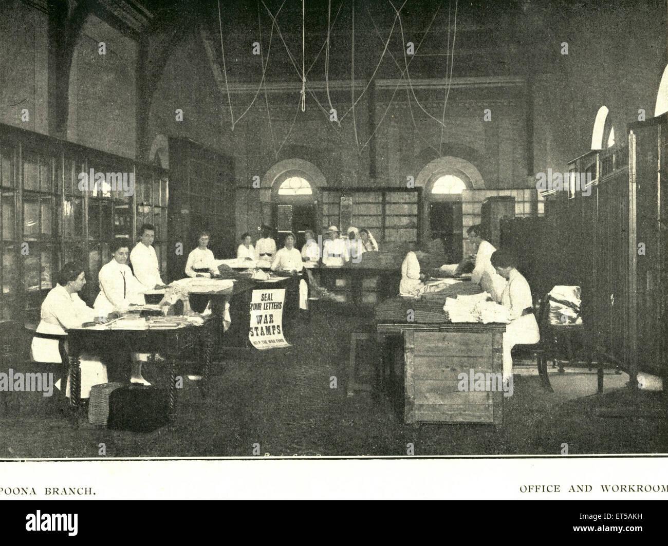 Lithographien, Poona Zweigstelle und Arbeitsraum; Pune; Maharashtra; Indien Stockbild