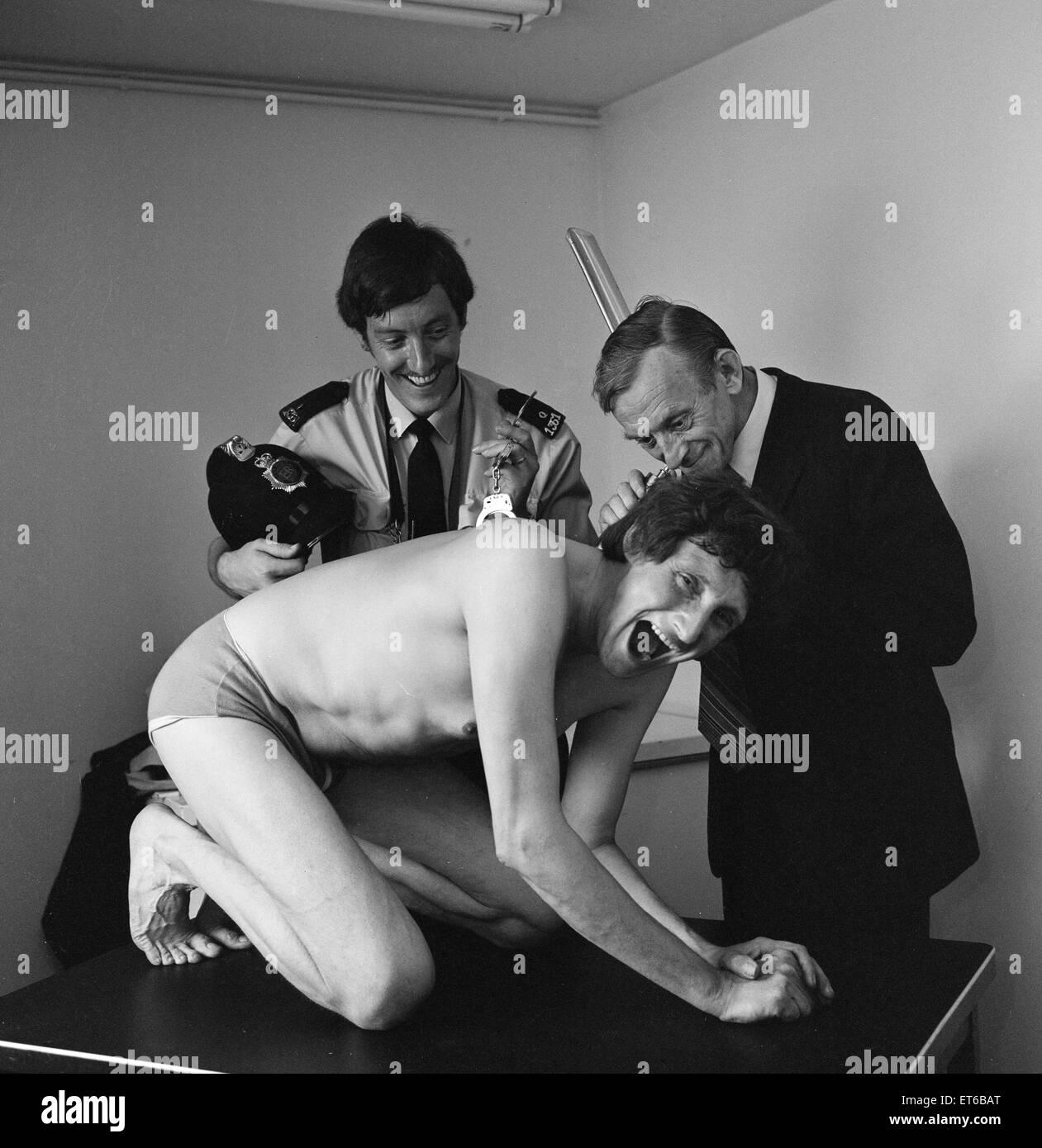 David De Val, Entfesselungskünstler, 1. September 1983. Stockbild