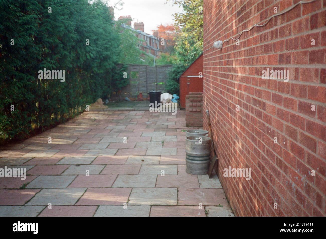 Exterieur der 25 Cromwell Street, Gloucester. Frederick West der Massenmord angeklagt. 3. März 1995. Stockfoto