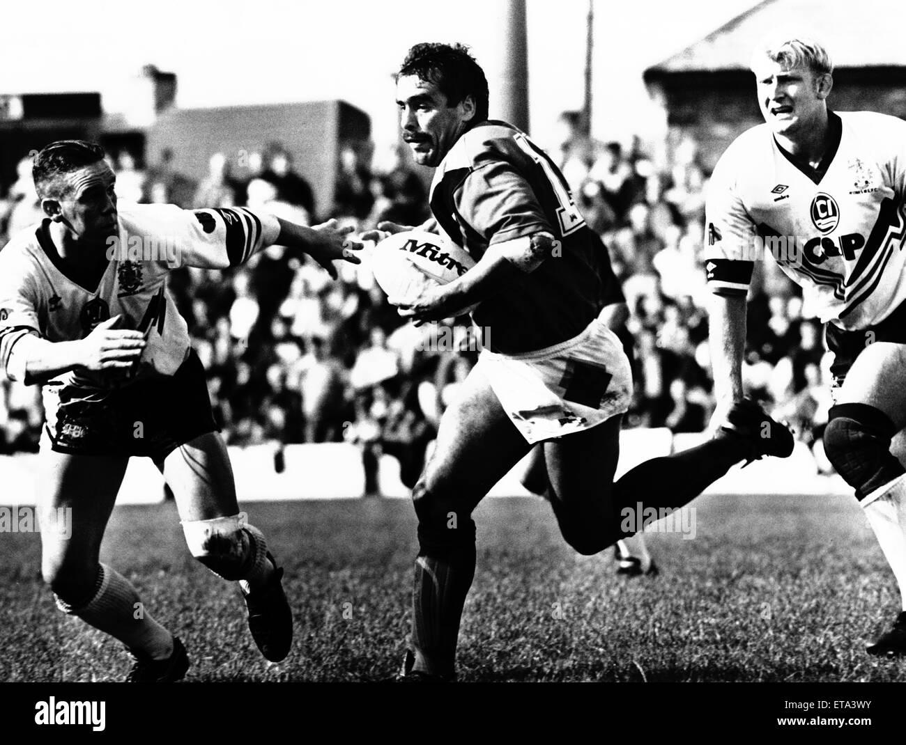Wides 12-24 Bradford Northern Rugby Spiel. 21. September 1992. Stockfoto