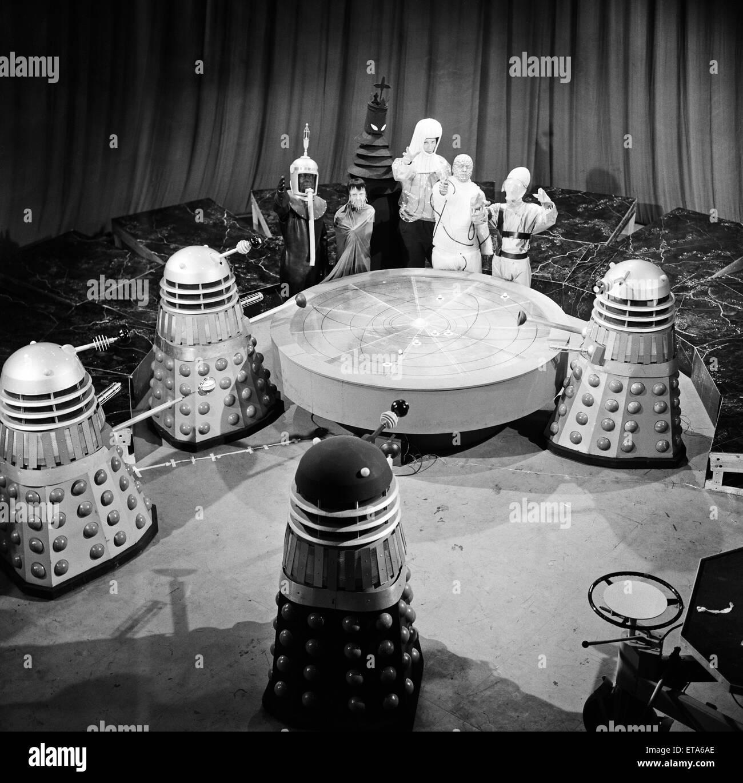 """""""Mission to the Unknown"""", die zweite Geschichte von Staffel 3 von Doctor Who. Die Bestien von UGH (United Stockbild"""