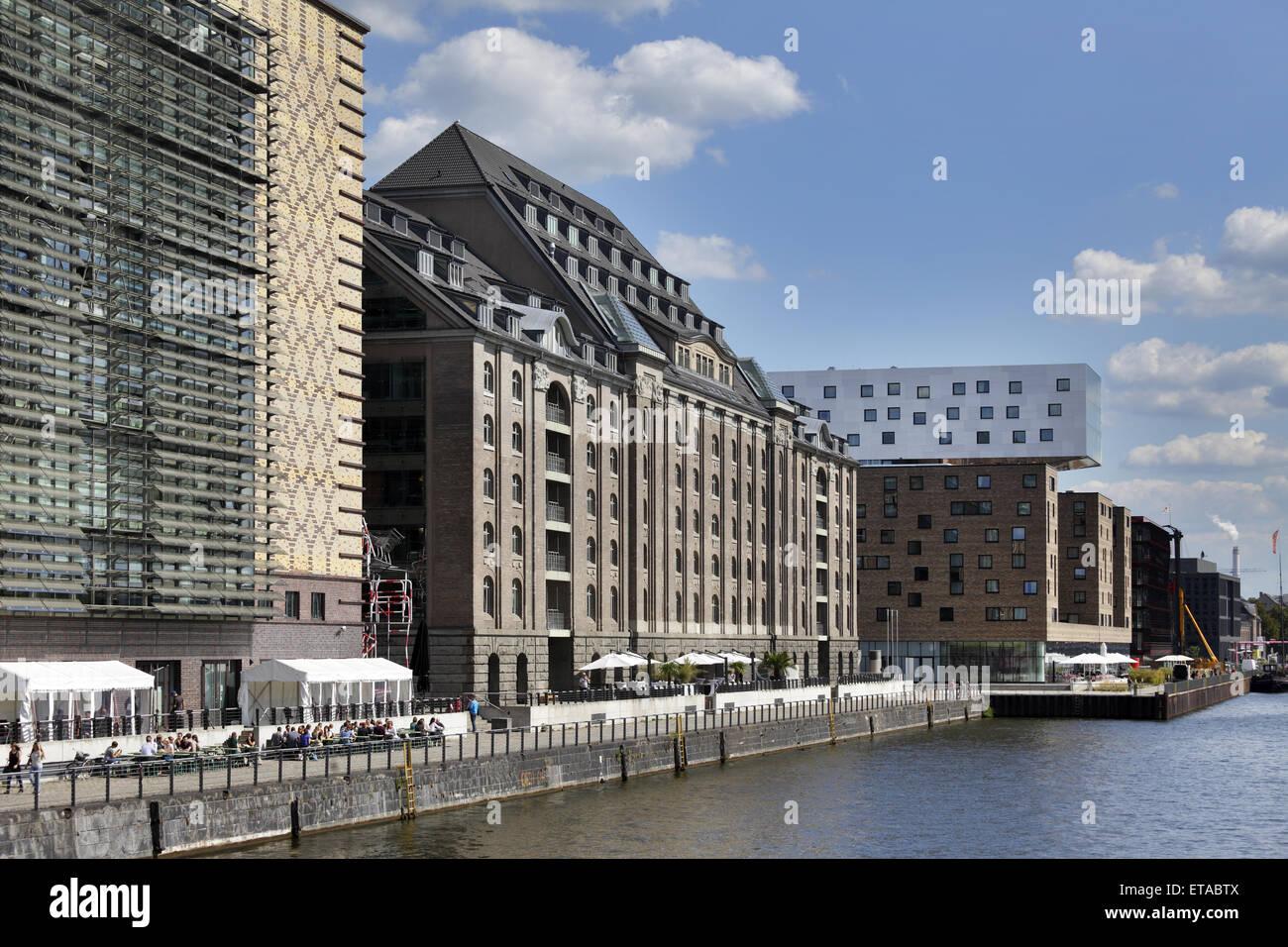 Berlin, Deutschland, Universal Music, Spreespeicher und Hotel Nhow an der Mediaspree Stockbild