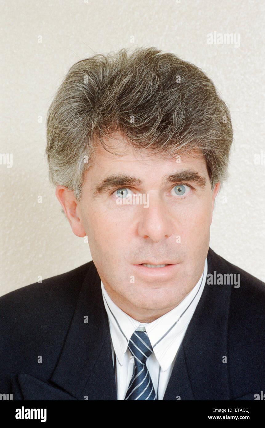Max Clifford, Publizist, 31. März 1989. Stockbild