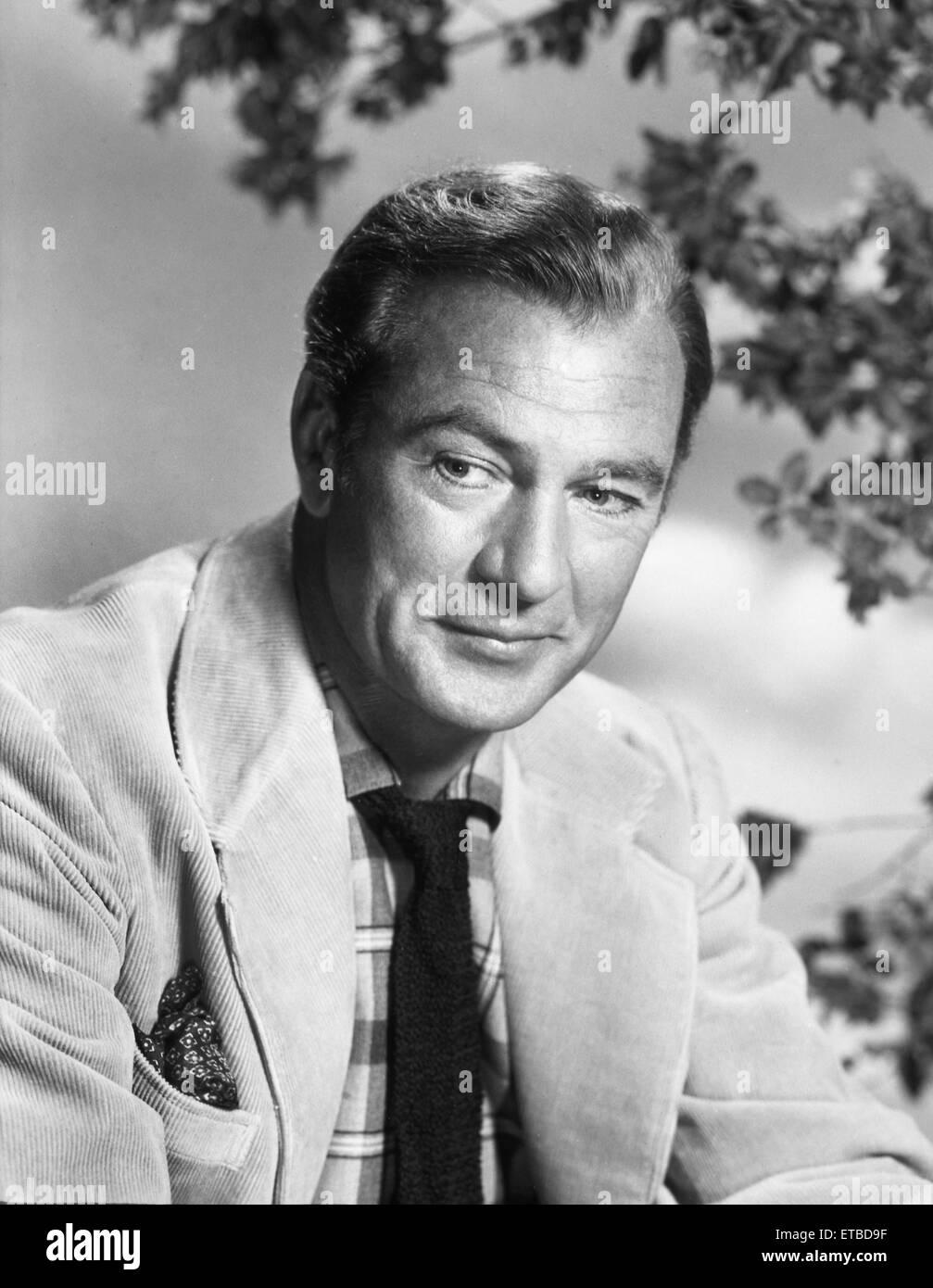 Schauspieler Gary Cooper, Werbung Portrait, um 1950 Stockbild