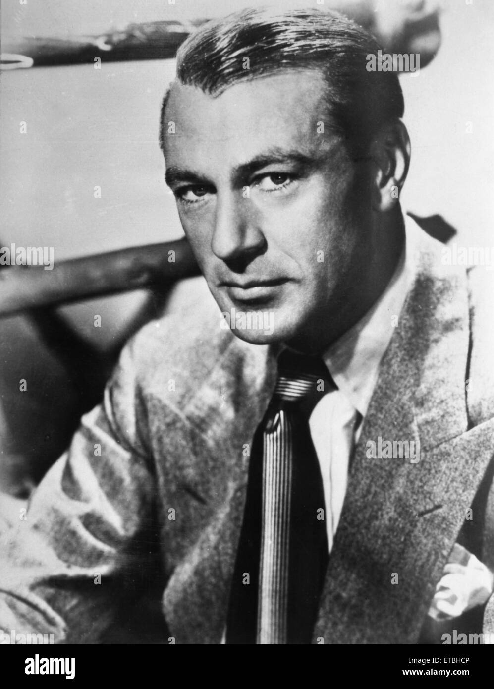 Schauspieler Gary Cooper, Werbung Portrait, ca. 1940 Stockbild