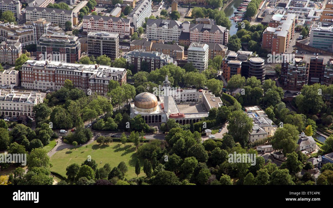 Luftaufnahme des islamischen kulturzentrums und die london for Wildparks in der nahe