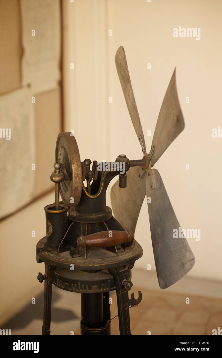 Antiker Ventilator, Stadtschloss, Udaipur, Rajasthan, Indien Stockbild