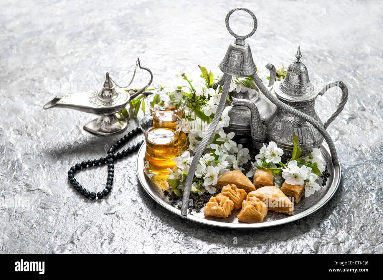 Essen Dekoration islamische feiertage essen mit dekoration ramadan kareem eid