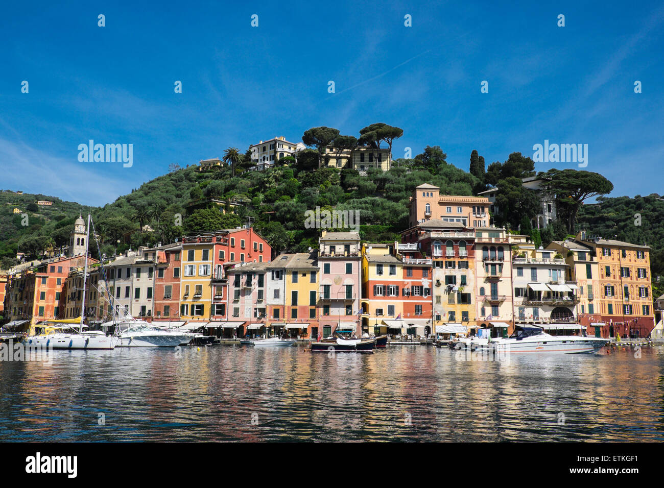 Ausblick auf die Stadt von Portofino, Aussicht Auf Die Stadt von Portofino, Italien Stockbild
