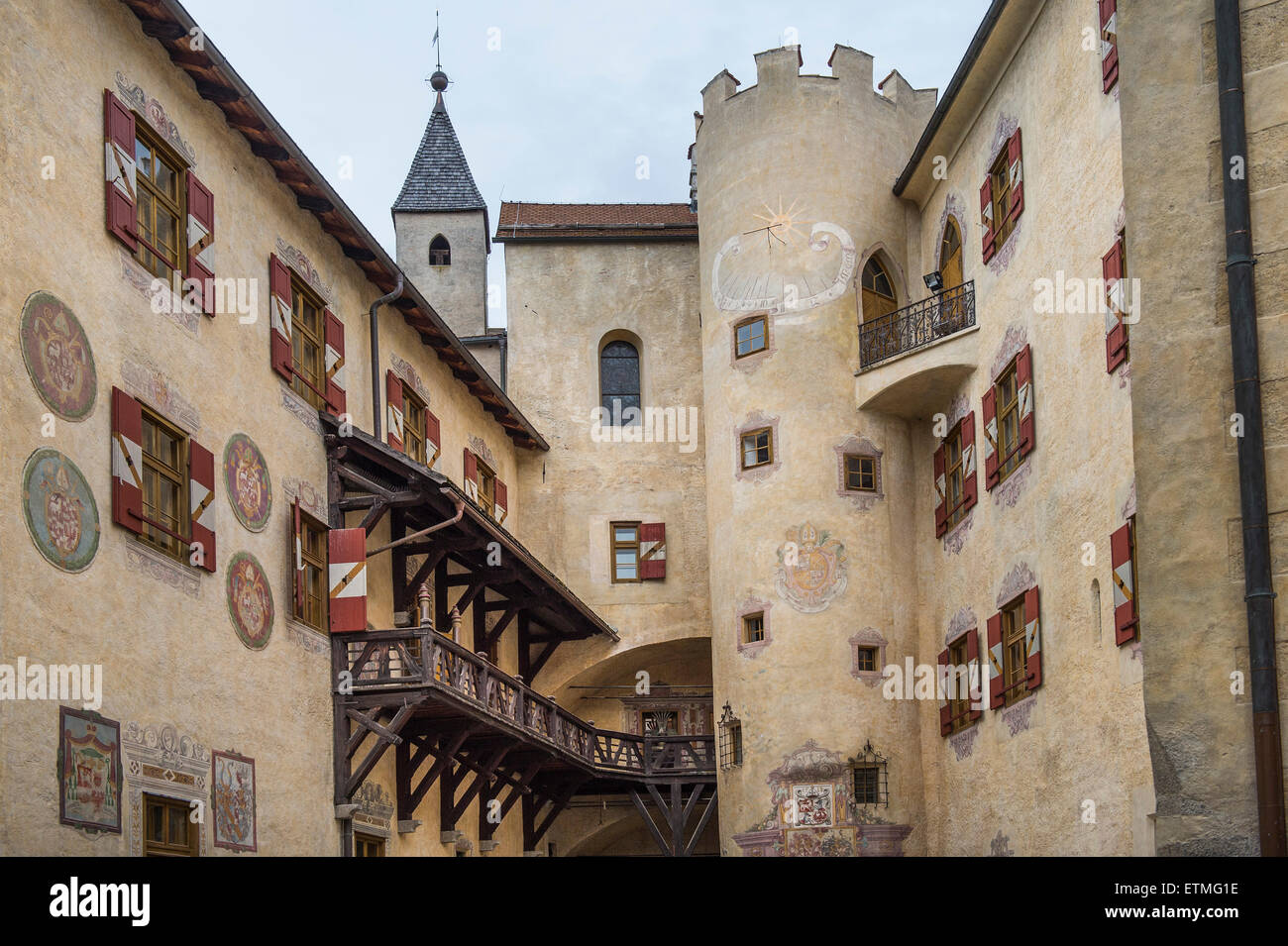 hof messner mountain museum mmm ripa in bruneck schloss bruneck s d tirol italien stockfoto. Black Bedroom Furniture Sets. Home Design Ideas