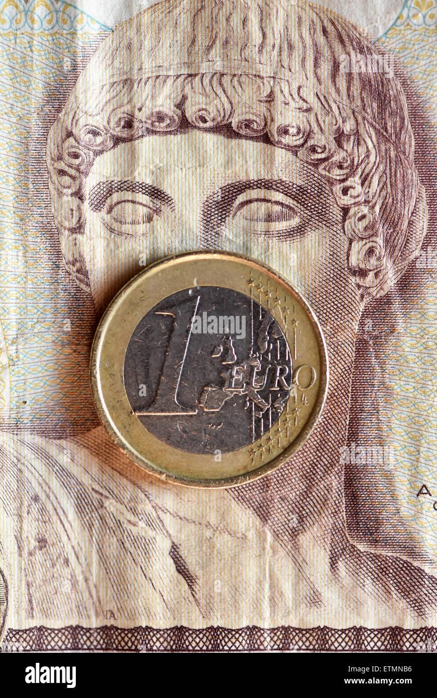 Berlin Deutschland 14 Juni 2015 Illustration Eine Euro Münze