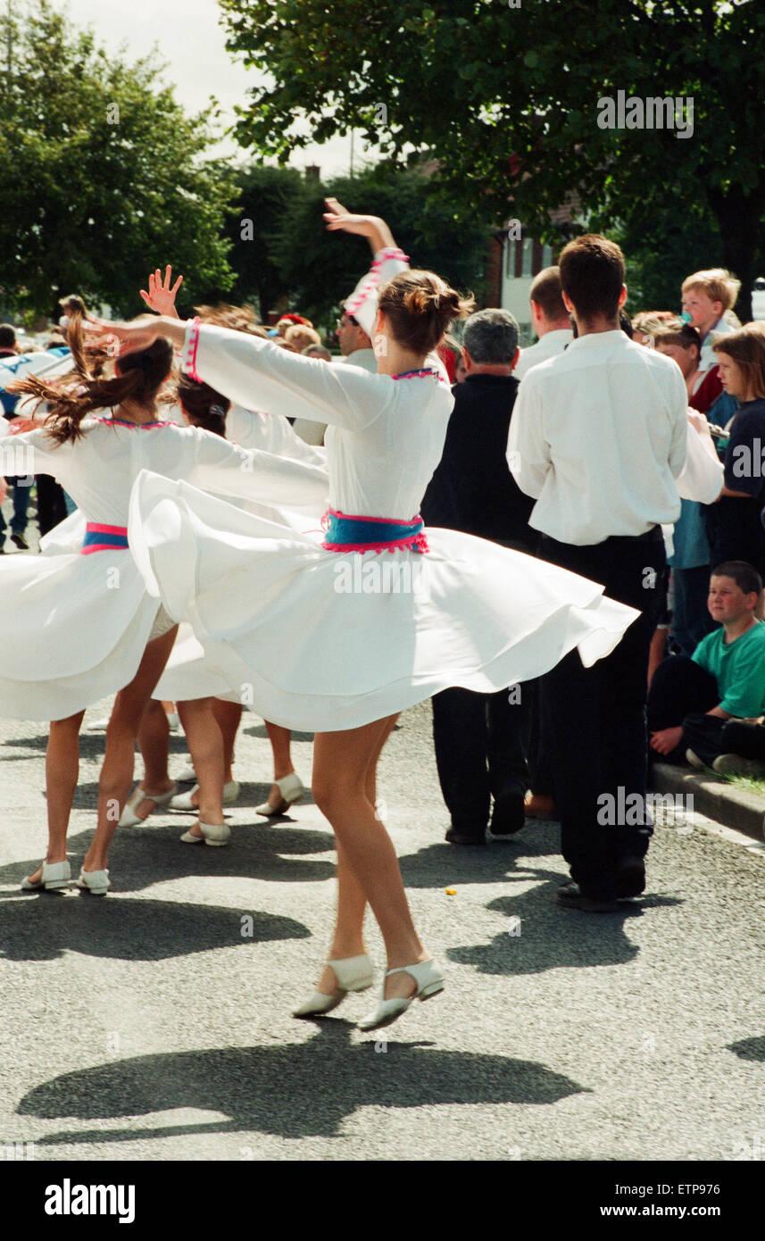 Billingham Folklore Festival 1994, internationale Folklore-Festival der Welt tanzen. 16. August 1994. Stockbild